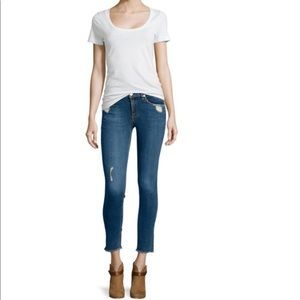 Rag & Bone Destroyed Dark Skinny Jeans La Paz 25